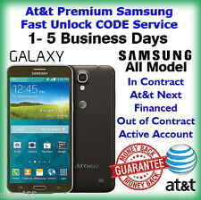 At&t Premium Samsung Galaxy S2 S3 S4 S5 S6 Note2,3,4 Unlock CODE Service