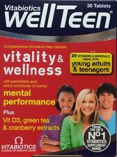 Vitabiotics Wellteen Multi Vitamins and Minerals for Teenagers 30 Tablets