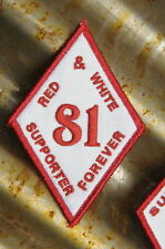Hells Angels Tucson - 81 Red & White Supporter Forever - White Diamond Patch