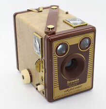 Kodak Brownie Six-20 Box Camera Model F with case - c.1955 -1957 - VGC & tested