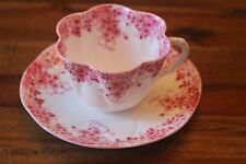 Shelley Dainty Pink Teacup Tea Cup Saucer Set Flowers Chintz