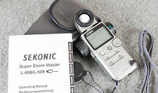 Sekonic L-608 Super Zoom Master Light Meter - w/Case,Manual Tested/Guaranteed!