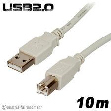 """""""USB 2.0 Drucker Kabel USB-A-Stecker USB-B-Stecker 10m"""