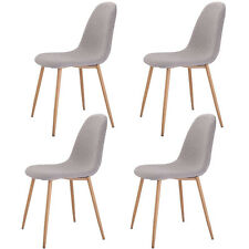 Set of 4 Modern Dining Accent Side Chairs Wood Legs Home Furniture New
