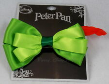 NEW Disney Peter Pan Bow Tie Hair Clip Pin with Feather Costume Dress Up Access