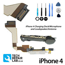 FOR iPhone 4 Replacement Charging Dock/Port + Microphone & Loud Speaker - WHITE