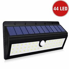 Solar Powered 44 LED Dusk-to-Dawn Waterproof Motion Sensor Security flood Light
