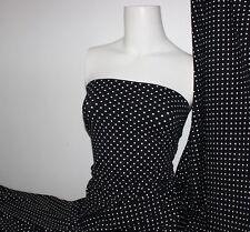 Black/white Polka-dot Lycra/Spandex 4 way stretch Matt Finish Fabric
