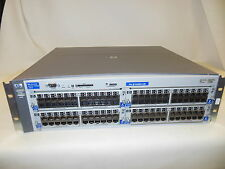 HP switch J4887A w/ 96 ports 10/100 + 2 power supplies W/ 4X J4862B Modules
