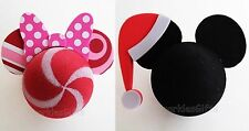 Disney - Christmas - Peppermint Minnie & Santa Mickey Antenna Toppers Lot of 2