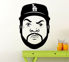 Ice Cube Wall Decal Rap Music Hip Hop Vinyl Sticker Art Decor Home Mural(11mu)
