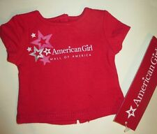 New Mall of America Authentic American Girl Today Pink Stars Red Tee shirt doll
