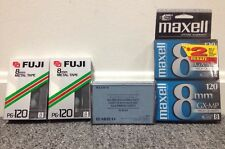 NEW SONY 8mm Video Head Cleaning Cassette Hi8 / Video8 + 4 NEW TAPES Fuji Metal