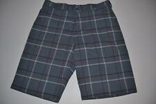 NIKE GOLF GRAY CHARCOAL PLAID DRY FIT SHORTS MENS SIZE 34