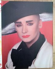 BOY GEORGE (Culture Club) 'black hat' magazine PHOTO/Poster/clipping 11x8 inches