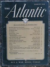 The Atlantic Magazine March 1945  The Cat's Eye  VINTAGE ADS  Benje