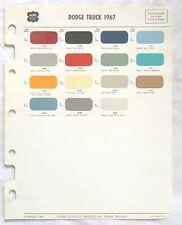1967  DODGE TRUCK ACME  COLOR PAINT CHIP CHART ORIGINAL MOPAR