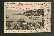 1901 Constantinople French Post Office Turkey postcard cover to Switzerland