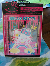 Hello Kitty Scratch Journal Wooden Stylus Stickers Spiral Holographic Book NEW