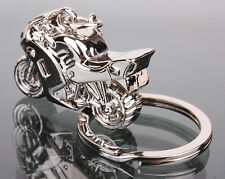 Chic Men's Gift Motorcycle design Pendant Charm Key Chain Fob Ring solid Cool