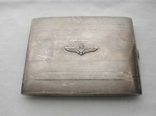 Amazing NAVY or MARINES Wings ANCHOR Signed R B Co STERLING Cigarette Card CASE‏