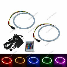 2X Changing Color 60MM Angel Eyes 42 Chips COB LED Car Ring Light IR Remote O061