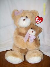 "2005 TY Classic Bear Plush CRADLES the Bears 2 Bear set w/Baby 16"" With Tag"