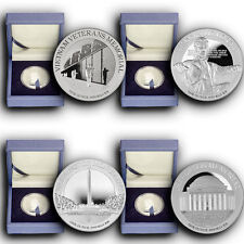 2015 4 Coins Set America's National Monuments NIUE 1 oz Proof Silver W/Box & COA