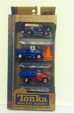 Tonka Diecast Vintage Collection Cargo Carrier Hardware Panel Dump Truck 3 Pack