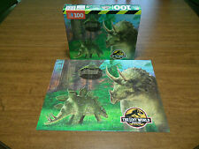 Jurassic Park Puzzle The Lost World 100 Piece Triceratops Stegosaurus Complete