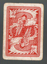 Playing Swap Cards 1 WIDE  BICYCLE RIDER CHASED BY DRAGONS REVERSABLE   27WW