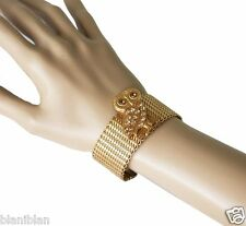 14K GP Owl Bracelet by La Vie Parisienne, Designer Catherine Popesco, France