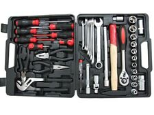 39PCS TOOL KIT SET INC. PLIERS, WRENCHES, SCREWDRIVERS, SOCKETS, HAMMER + MORE