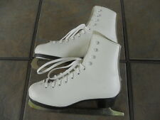 Dominion Girls Figure Skates, White, Size 3, Pre-owned, Shelf-Worn Factory Box