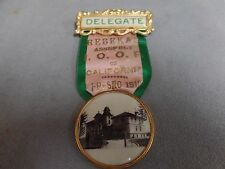 1910 Fresno, CA Rebekah Assembly I.O.O.F. Delegate Ribbon-pin and badge