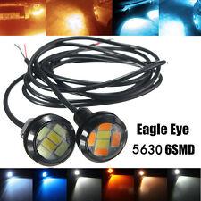 1Pair 12V 10W LED Round Car Daytime Running Light DRL Head Lamp Eagle Eye Light