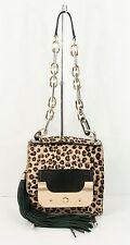 NWT $695 Diane Von Furstenberg Leopard Pony Hair Leather Bon Bon Harper Bag
