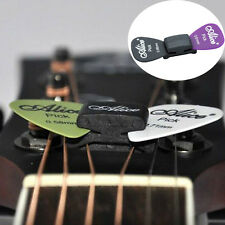 New WEDGIE Guitar Headstock Pick Plectrum Rubber Holder Clip Case 2 FREE Pick UK