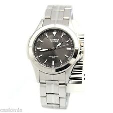 Casio MTP1214A-8A Mens Stainless Steel 50M Dress Watch Black Dial Luminous New