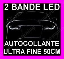BANDE A LED SMD SOUPLE BLANCHE FEUX JOUR DIURNE FEU BLANC XENON STRIP TYPE AUDI