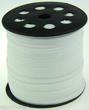 10yd 3mm white Suede Leather String Jewelry Making Thread Cords hot