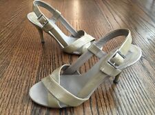 Women's Banana Republic Tan Taupe Strappy High Heel Sandal Stiletto 7.5