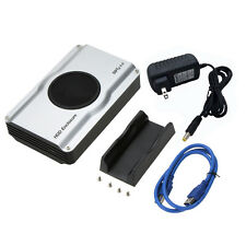 "USB 3.5''2.5"" SATA SSD Hard Drive Disk HDD External Enclosure/Case with fan US"