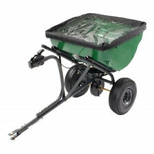Precision Products 100 LB Pro Series Tow Behind Broadcast Spreader With Rain ...