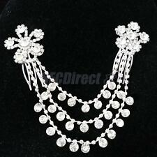 Wedding Bridal Crystal Rhinestone Flower Hair Comb Forehead Chain Headpiece