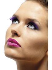 Púrpura brillo pestañas con estrella Smiffys 34997 enviados desde el Reino Unido señoras Vestido de fantasía