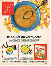 PUBLICITE ADVERTISING 034   1963   ROYCO  potage poulet au vermicelle