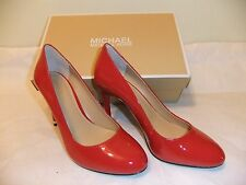 MICHAEL KORS Ashby Red Patent Leather Heel Dress Pump Size 7 EU 37 NIB $110