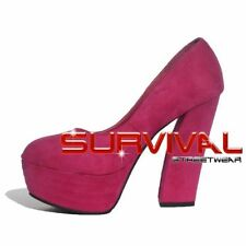 Womens Platform Shoes Size 7 8 Sexy Faux Seude Black Pink Party High Heels Pumps