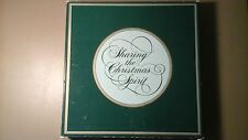 "Christmas 1981 23 karat gold plate from Avon ""Sharing the Christmas Spirit"""